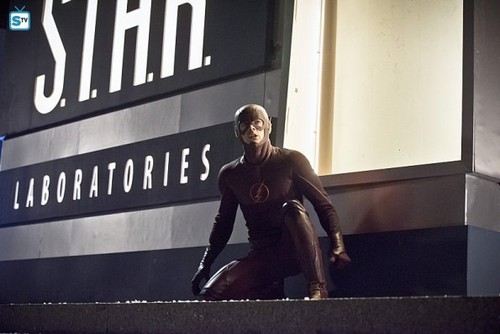 The Flash (CW) wallpaper possibly containing a street and a sign entitled The Flash - Episode 1.22 - Rogue Air - Promo Pics