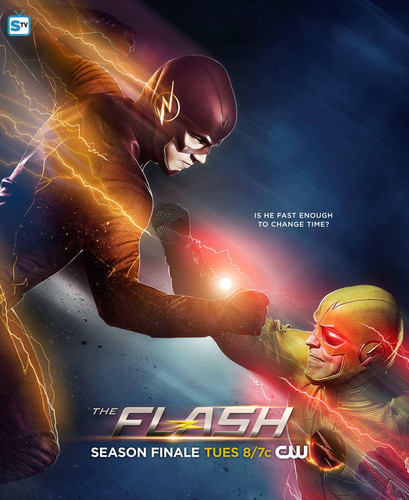 The Flash (CW) Hintergrund titled The Flash vs. Reverse Flash - Finale Poster