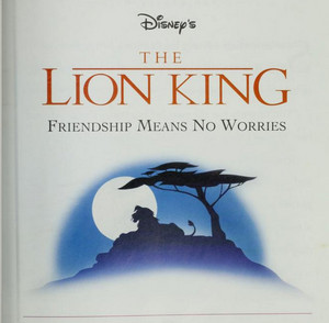 The Lion King - Friendship Means No Worries