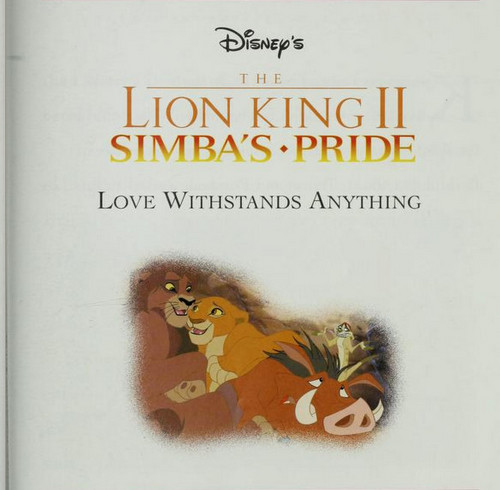 The Lion King 2:Simba's Pride wallpaper possibly with anime called The Lion King II: Simba's Pride - Love Withstands Anything