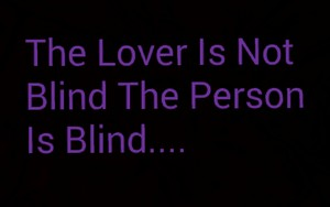 The 爱情 is not Blind