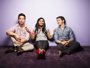 The Mindy Project - Ed Weeks, Mindy Kaling and Chris Messina