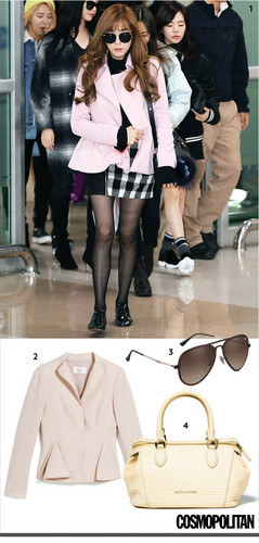 "Tiffany Hwang fondo de pantalla containing sunglasses entitled Tiffany Featured on ""Cosmopolitan"" Website"