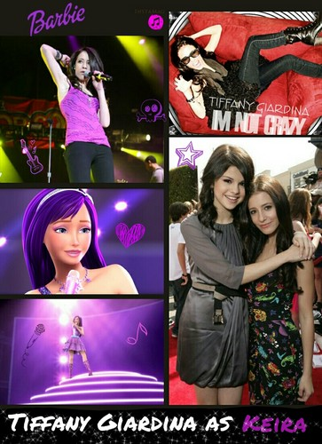 Barbie the Princess and the popstar wallpaper probably with anime called Tiffany Giardina as Keira