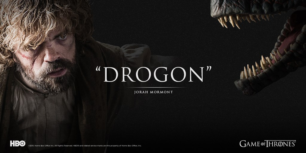 Tyrion Lannister and Drogon