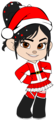 Vanellope as Mrs Claus with Santa Hat (Redone)