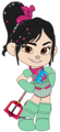 Vanellope in her Ballistic Armour and with her Keyblade (Redone) - wreck-it-ralph fan art