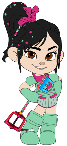 Vanellope von Schweetz wolpeyper titled Vanellope in her Ballistic Armour and with her Keyblade