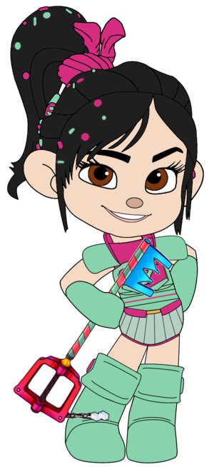 Vanellope in her Ballistic Armour and with her Keyblade