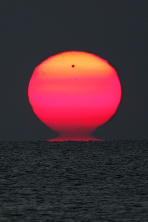 Venus Rising with the Sun