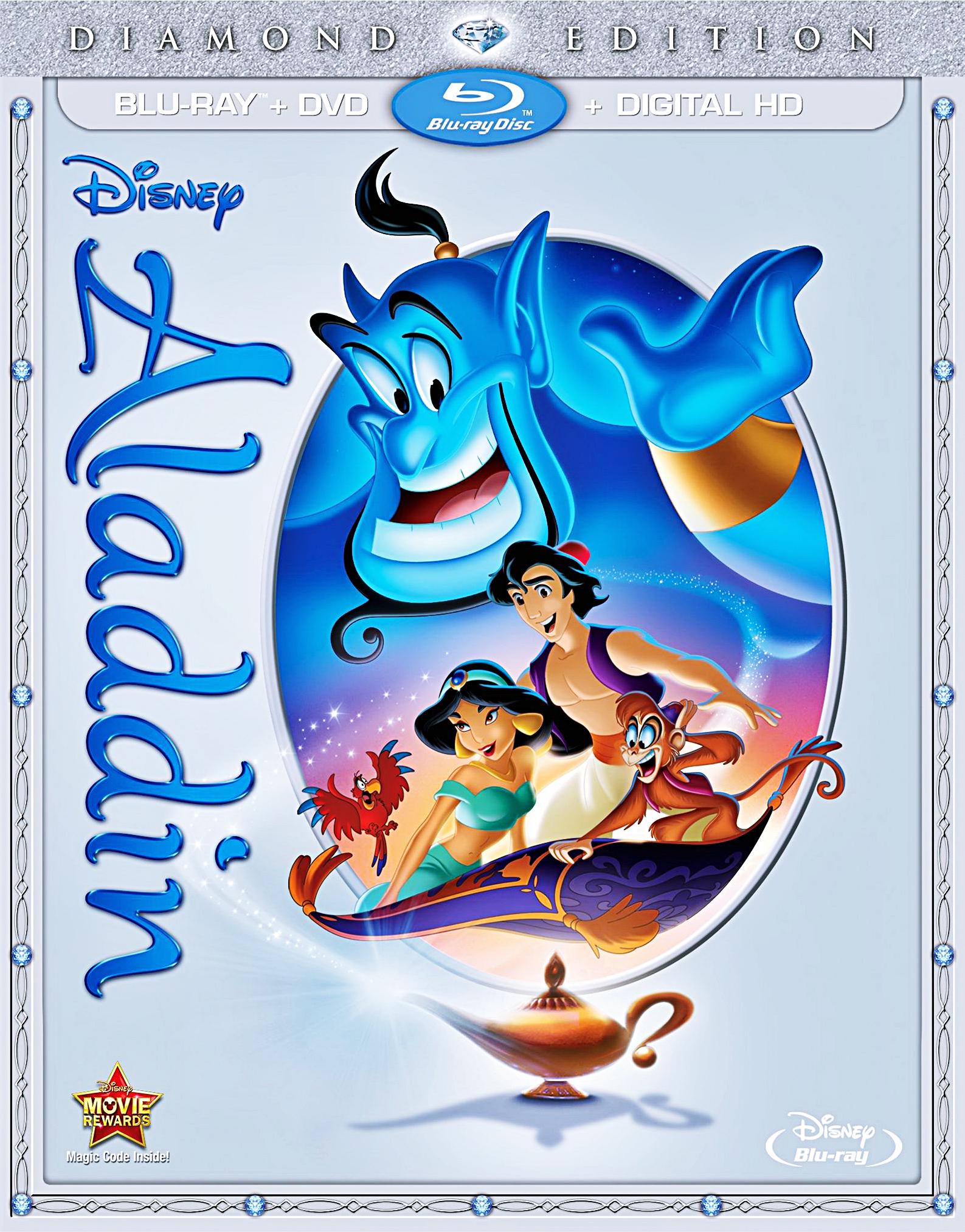 Walt Disney Blu Ray Covers Aladdin Diamond Edition Blu