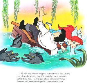 Walt ডিজনি Book প্রতিমূর্তি - Flotsam, Jetsam, Prince Eric & Princess Ariel