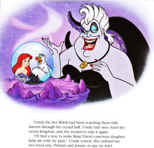 Walt Disney Book Bilder - Princess Ariel, Scuttle & Ursula