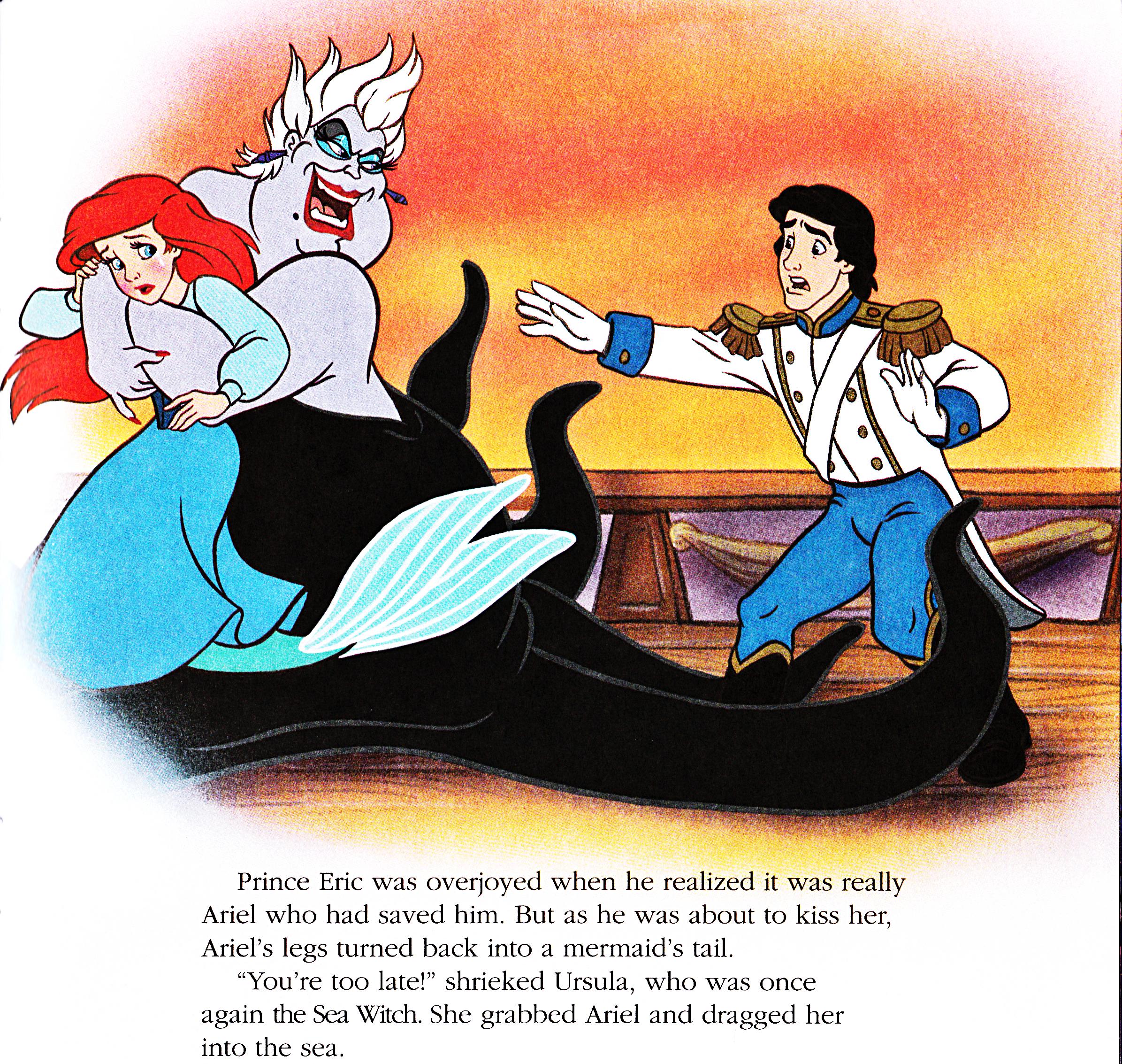 Walt Disney Book immagini - Princess Ariel, Ursula & Prince Eric