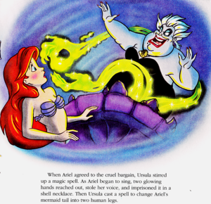 Walt Disney Book Images - Princess Ariel & Ursula