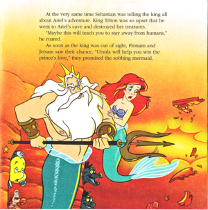 Walt Disney Book imej - Sebastian, Flounder, King Triton, Flotsam, Jetsam & Princess Ariel