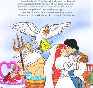 Walt disney Book imagens - Sebastian, King Triton, Scuttle, linguado, solha Princess Ariel & Prince Eric