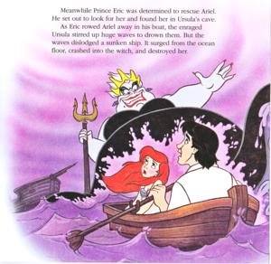 Walt disney Book gambar - Ursula, Princess Ariel & Prince Eric