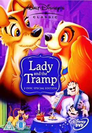 Walt ডিজনি DVD Covers - Lady and the Tramp: 50th Anniversary Platinum Edition