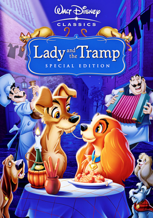 Walt Дисней DVD Covers - Lady and the Tramp: 50th Anniversary Platinum Edition