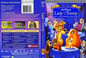 Walt डिज़्नी DVD Covers - Lady and the Tramp: 50th Anniversary Platinum Edition