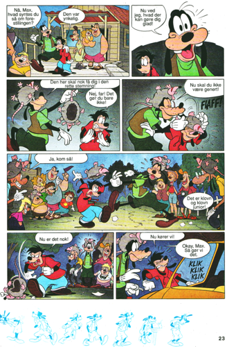 Walt Disney Characters karatasi la kupamba ukuta with anime titled Walt Disney Movie Comics - A Goofy Movie (Danish Edition)
