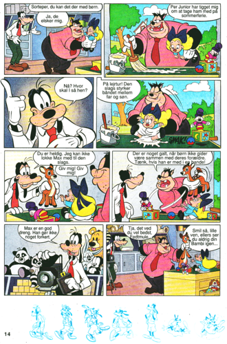 Walt Disney Characters achtergrond containing anime entitled Walt Disney Movie Comics - A Goofy Movie (Danish Edition)