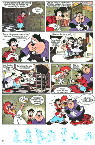 personnages de Walt Disney fond d'écran containing animé titled Walt Disney Movie Comics - A Goofy Movie (Danish Edition)