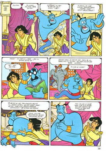 Walt Disney Characters achtergrond with anime titled Walt Disney Movie Comics - Aladdin (Danish Edition)