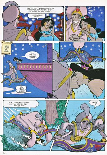 Герои Уолта Диснея Обои with Аниме called Walt Дисней Movie Comics - Аладдин (Danish Edition)
