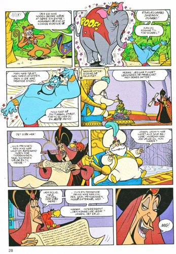 Walt Disney Characters karatasi la kupamba ukuta with anime called Walt Disney Movie Comics - Aladin (Danish Edition)