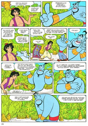 Walt Disney Characters karatasi la kupamba ukuta containing anime called Walt Disney Movie Comics - Aladin (Danish Edition)