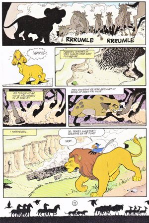 Walt Дисней Movie Comics - The Lion King (Danish Edition)