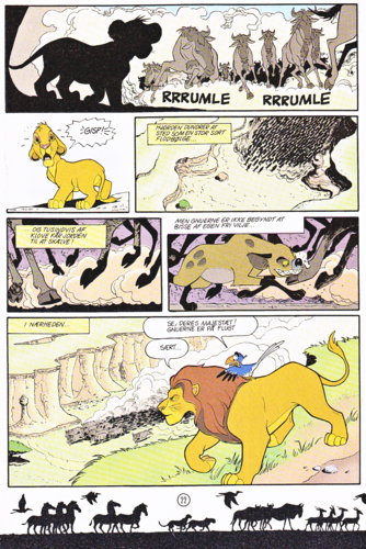Walt Disney Characters achtergrond with anime called Walt Disney Movie Comics - The Lion King (Danish Edition)