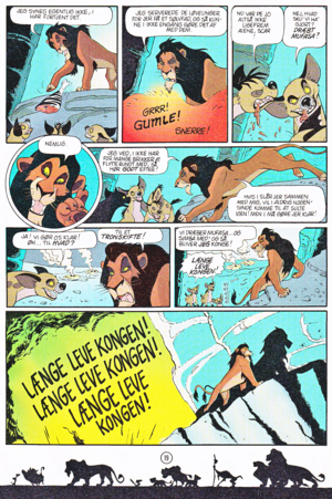 Walt ডিজনি Movie Comics - The Lion King (Danish Edition)