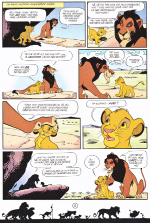 Walt 디즈니 Movie Comics - The Lion King (Danish Edition)
