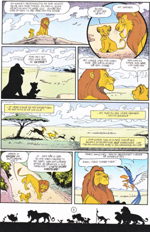 Walt 迪士尼 Movie Comics - The Lion King (Danish Edition)