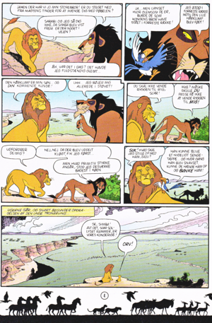 Walt Disney Movie Comics - The Lion King (Danish Edition)