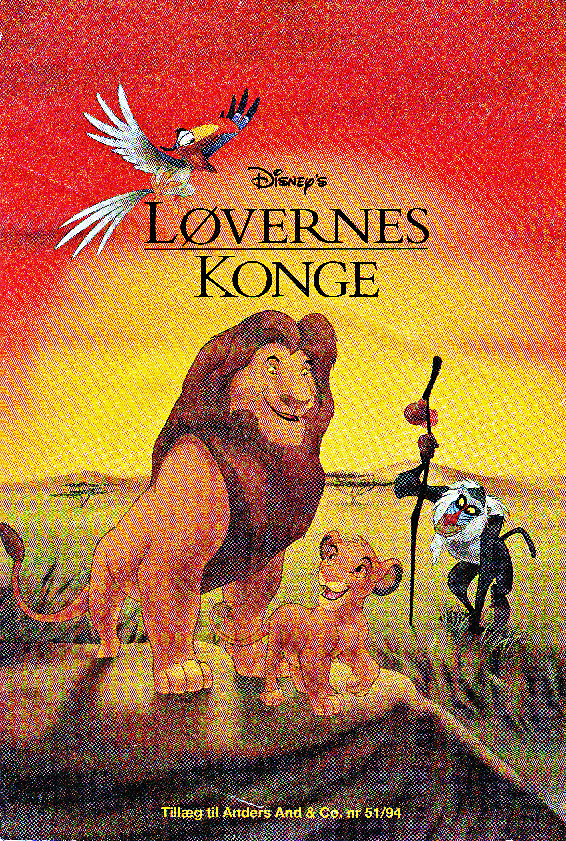 Walt ディズニー Movie Comics - The Lion King (Danish Edition)