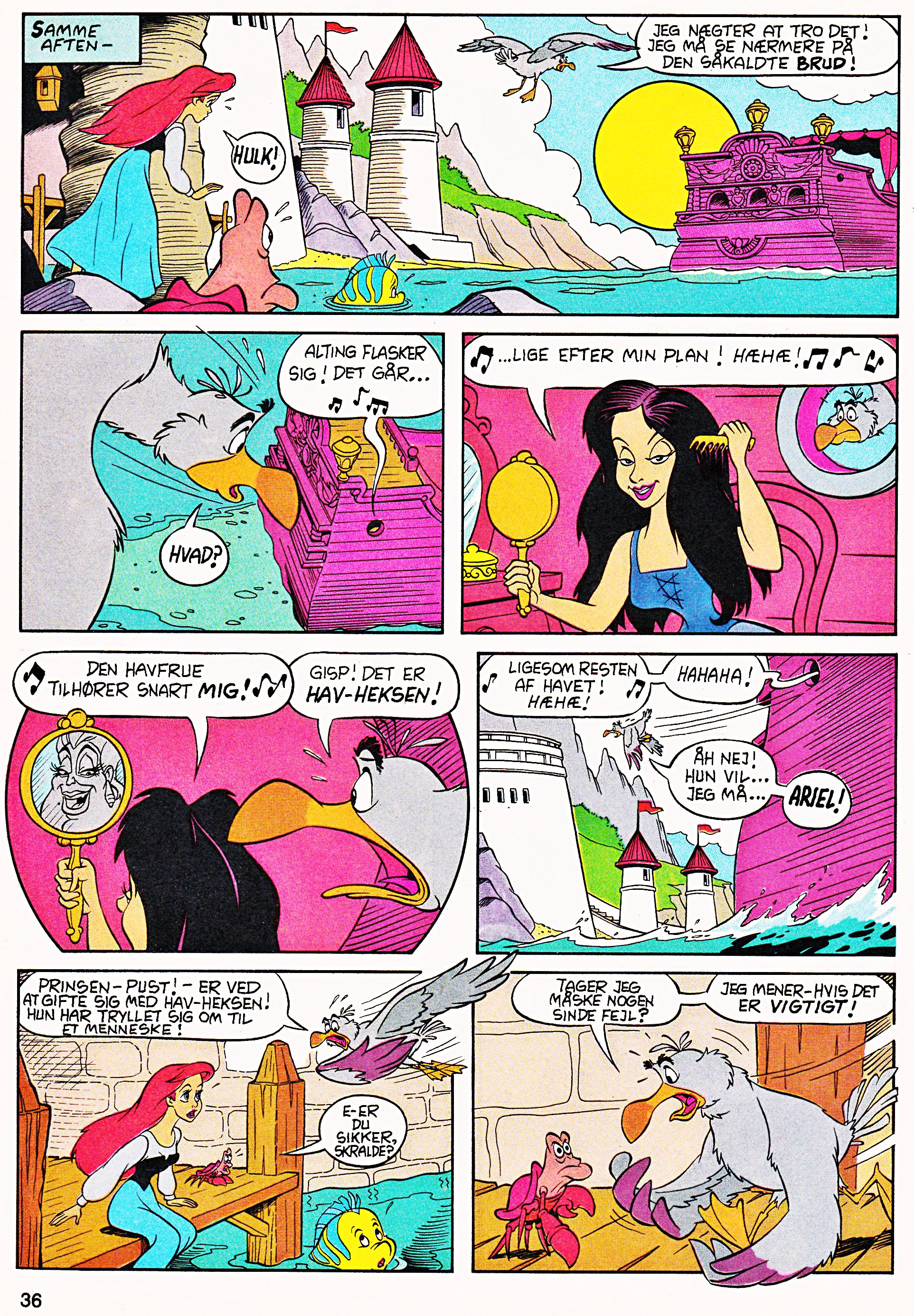 Walt 디즈니 Movie Comics - The Little Mermaid (Danish Edition)