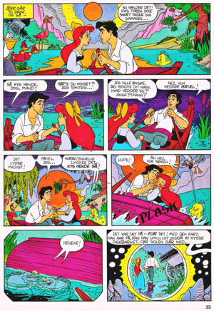 Walt ডিজনি Movie Comics - The Little Mermaid (Danish Edition)