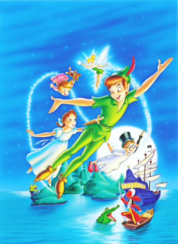 personnages de Walt Disney fond d'écran possibly with animé called Walt Disney Posters - Peter Pan