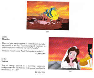 Walt Disney Production Cels - Flounder, Vanessa & Prince Eric