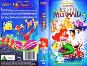 Walt Disney VHS Covers - The Little Mermaid