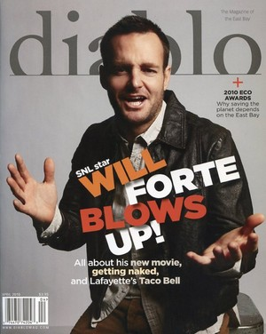 Will Forte on the cover of Diablo Magazine - April 2010