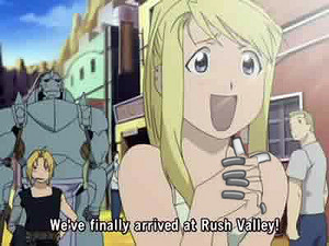 Winry is excited
