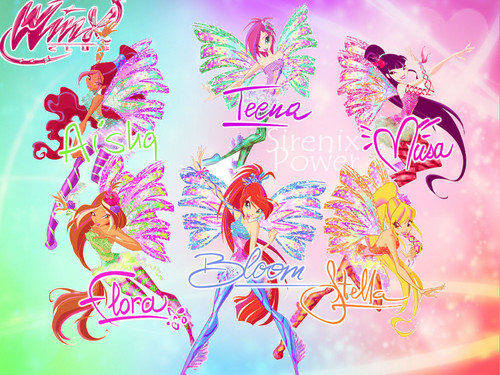 o clube das winx wallpaper probably containing a sign titled Winx club Sirenix wallpaper