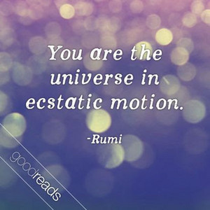 tu are the universe in ecstatic motion