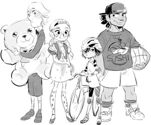 Young Fred, Honey, GoGo and Wasabi