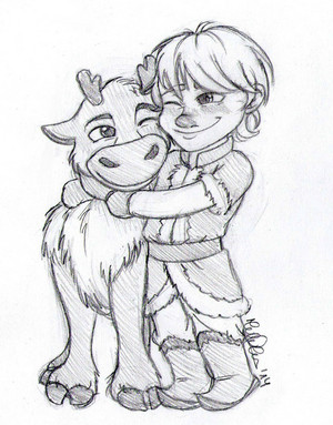 Young Kristoff and Baby Sven